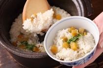 【夕食】季節の釜炊きご飯※例