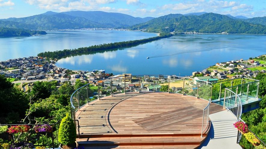天橋立/傘松公園。晴天の日はケーブルやリフトで展望台に上がって景色をお楽しみください♪