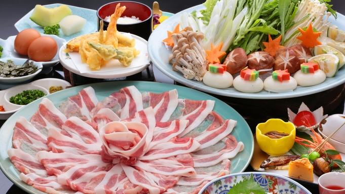 【個室食確約】【地元うきは産ブランド豚】耳納豚(みのうぶた)しゃぶしゃぶ鍋コース