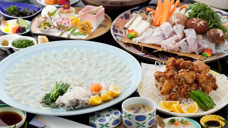 【11月~2月】冬季限定のふぐ料理は当館の人気メニュー!/一例