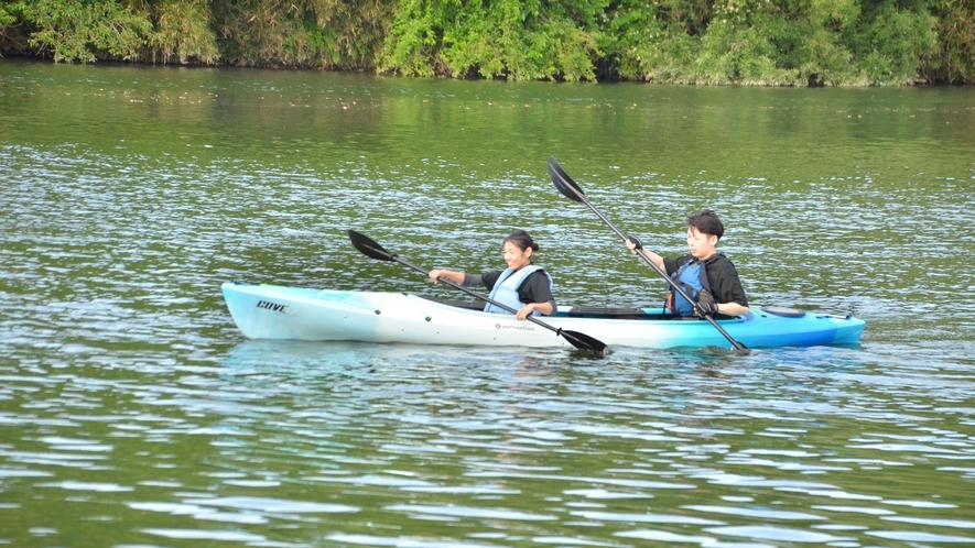 【カヌー体験】宿から10分!キャンプ場『きふね』の川遊びプログラム◆大自然で非日常のアウトドア体験