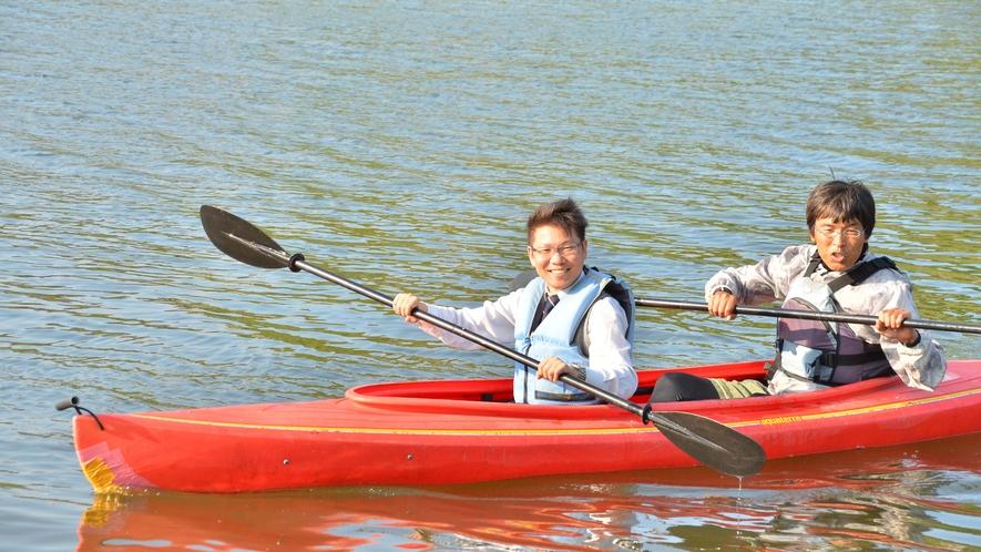 【カヌー体験プラン】当宿の専務も実際にカヌー体験をしてみました!