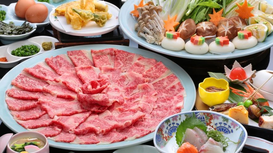 九州産黒毛和牛しゃぶ鍋コース/一例