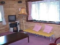 ログ別荘 寝室