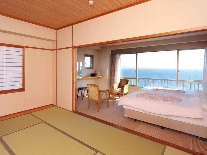 眺望海バスウォシュレット付トイレ空気清浄機空冷蔵庫テレビ付、和洋室、30平米