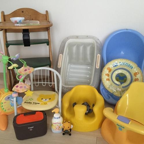 赤ちゃんグッズ無料貸出,1歳以下のお子様無料、2歳以上は施設使用料かかります
