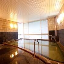 【大浴場】泉質は炭酸水素塩泉。当館は2つの泉質を所有しております。