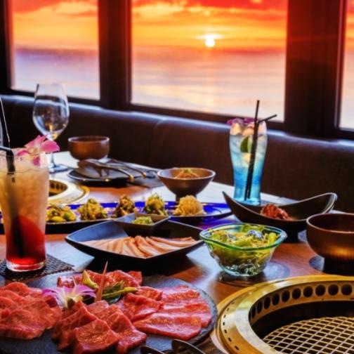 【上質ディナー】アップグレードコース「斜陽」〜アネックス最上階で愉しむ焼肉(夕食&ブッフェ朝食付)