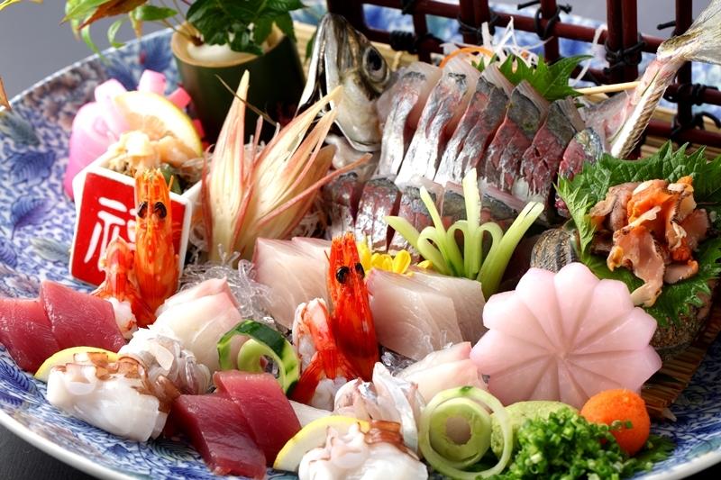 海鮮料理えいたろう会席造り一例