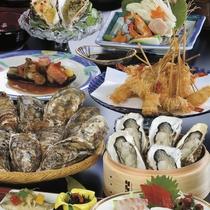 ■料理集合(01-12・牡蠣せいろ、串揚げ)
