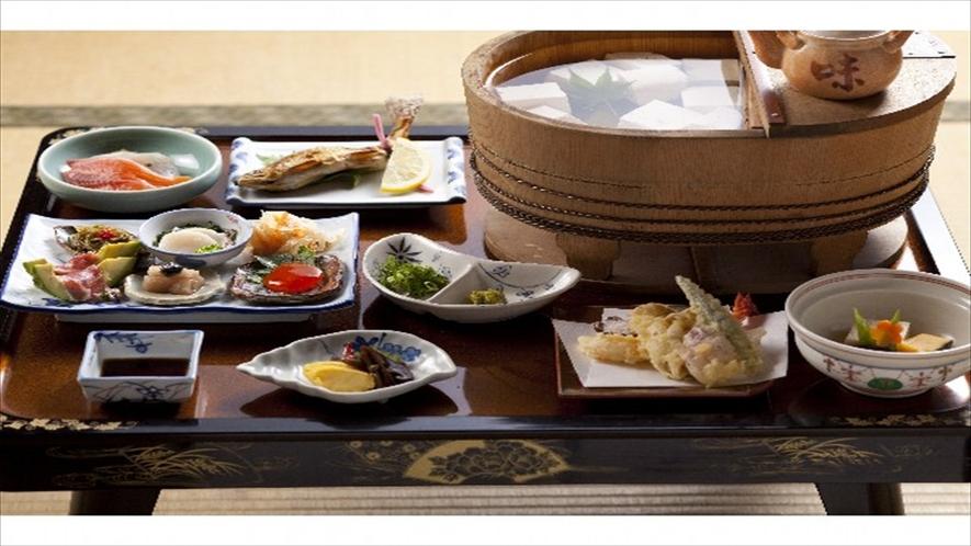 名水で作った名水豆腐が人気