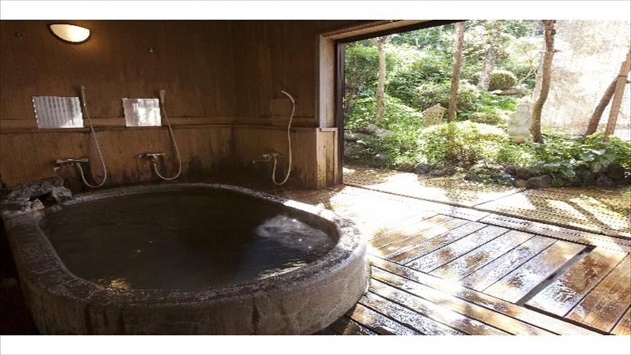 露天庭風呂 24時間 (貸切無料)