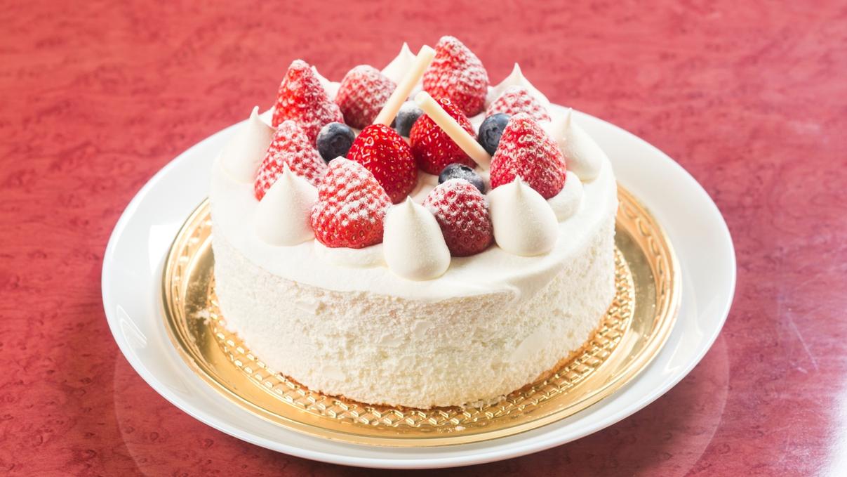 お誕生日や記念日にケーキをご準備することも可能です。