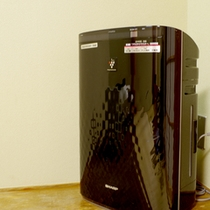 全室プラズマクラスター付きの空気清浄機を完備しております。