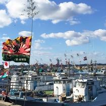 正月風景!今年も日間賀島を盛り上げていきます