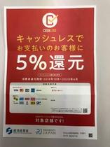 経済産業省 5%還元事業ポスター