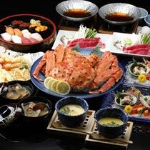 ◆豪華4大夕食プラン~タラバガニ・寿司・天ぷら・すき焼きで満腹!