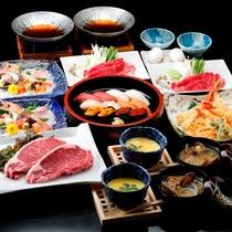 ◆4大夕食プラン~ステーキ、寿司、天ぷら、すき焼き