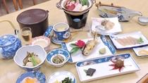 *【ジビエ料理一例】龍神村の恵みを使った郷土料理(骨酒あり)