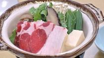 *【夕食一例】天然の猪肉を使ったぼたん鍋
