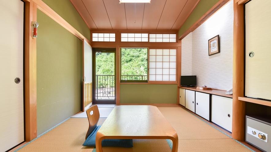 *【和室6畳(一例)】龍神産の檜を使った落ち着いた和室です