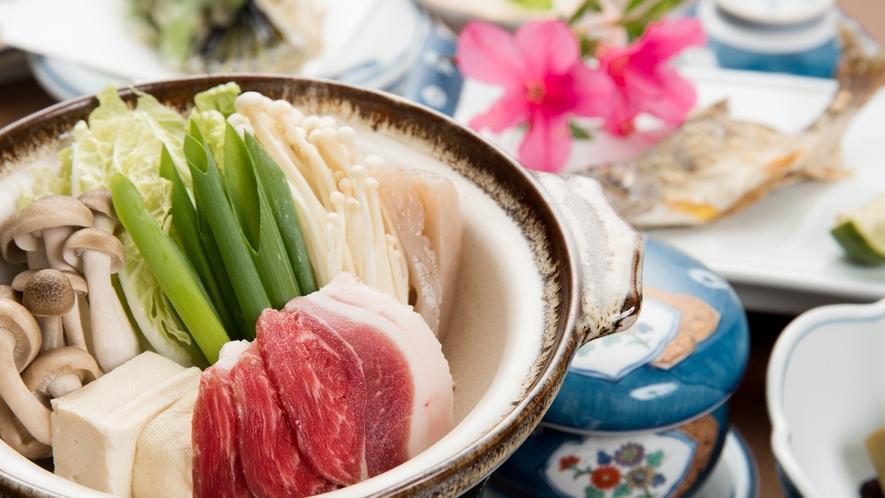 *【夕食一例】ぼたん鍋