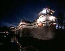 ライトアップの金沢城