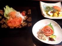 信州サーモン料理一例