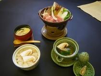 松茸御膳プランにつく松茸料理