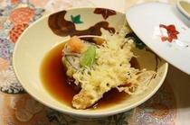 上田産薬用人参と揚げ蕎麦