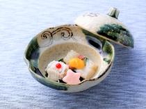 【酢物】穴子湯引き 貝柱と北寄貝の重ね寄せ