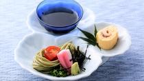 【冷鉢】鰻巻きと冷し茶蕎麦