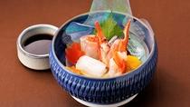 【お造里/秋】山陰浜田港鮮魚四種盛り合わせ あしらい一式