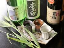 島根の誇る3種の銘酒を利き酒スタイルで