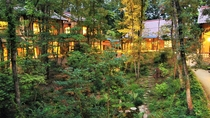 3,000坪の敷地に中庭を囲い点在する趣向の異なる5つの離れ。