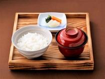 【御飯物・留め椀・香の物】島根県産弥栄産コシヒカリ・赤出汁・自家製ぬか漬け三点盛