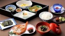 「ぬしや和朝食」のおしながき一例でございます。身体に優しい手作りにこだわった自慢の和朝食です♪