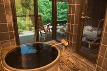 客室いちょう 陶器風呂