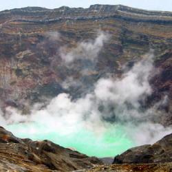 ■阿蘇中岳噴火口お車で約1時間17分