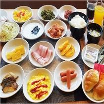 朝食バイキング ※掲載メニューは一例です。一部メニューは日替わりで提供いたします。