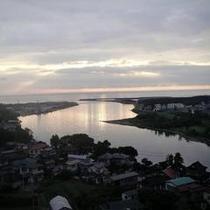 海側客室から見る日本海夕景