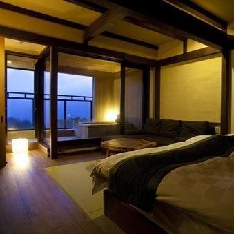 【露天風呂付き】和室2ベッドタイプ(10畳)/2階