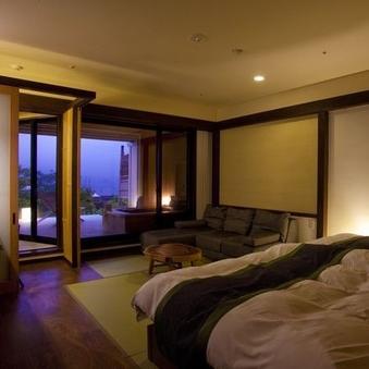 【露天風呂付き】和室2ベッド(10畳)+テラス/1階