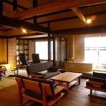 【露天風呂付特別室】飛騨建築を随所に施した豪華客室