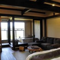 【露天付客室2ベッドタイプ】飛騨の大工と左官職人による和モダン客室