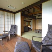 【準特別室】和室窓一面に箱根連山が見えます。