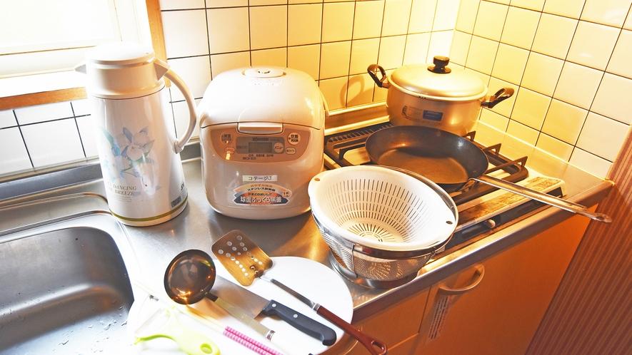 *[コテージ] 食器など調理器具も御用意しております。