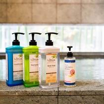 オーガニックシャンプー、ボディソープ各種浴場にご準備
