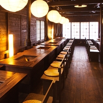■炉端会場■夕食はこちらでお召し上がりください。