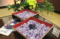 能登産ブルーベリーを使った『ブルーベリーご飯』